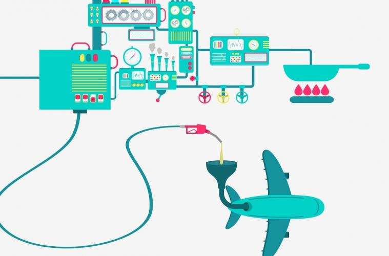 biocombustible para aviones