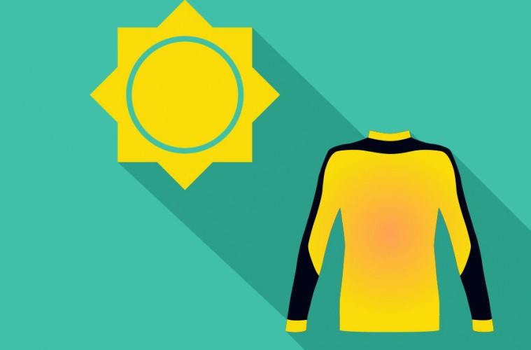 energía solar y ropa térmica