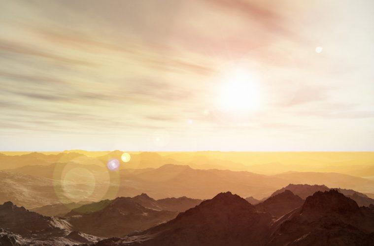 energía solar desde Marte