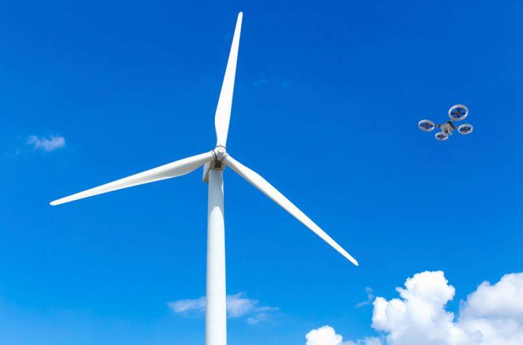 drones en parques eólicos
